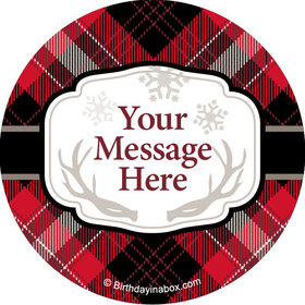 "Buffalo Plaid Personalized 2"" Stickers (20 Stickers)"
