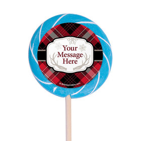 "Buffalo Plaid Personalized 3"" Lollipops (12 Pack)"