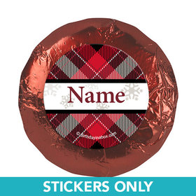 "Buffalo Plaid Personalized 1.25"" Stickers (48 Stickers)"