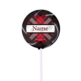 "Buffalo Plaid Personalized 2"" Lollipops (24 Pack)"
