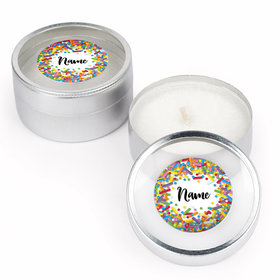 Sprinkles Personalized Candle (Set of 12)