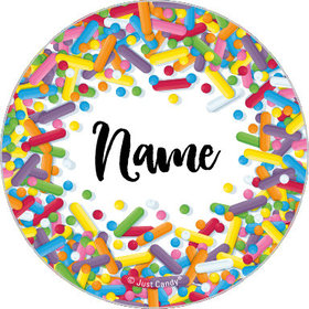 "Sprinkles Personalized 1.25"" Stickers (48 Stickers)"