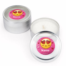 Emojis PinkPersonalized Candle (Set of 12)
