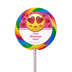 """Emojis Pink Personalized 3"""" Lollipops (12 Pack)"""