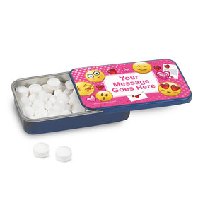 Personalized Emojis Pink Mint Tin (12 Pack)