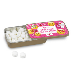 Emojis Pink Personalized Mint Tin (12 Pack)