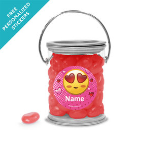 Emojis Pink Personalized Paint Cans (25 Pack)