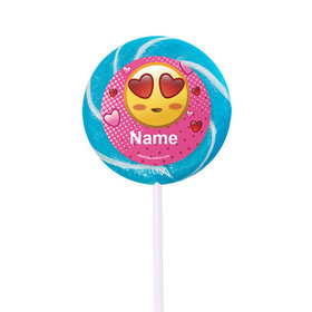 "Emojis Pink Personalized 2"" Lollipops (24 Pack)"