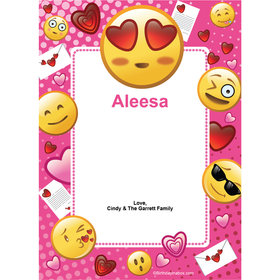 Emojis PinkPersonalized Thank You Note