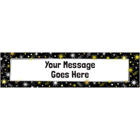 Personalized Birthday Sparkle Milestone 5 Ft. Banner