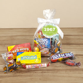 Nostalgic Candy Personalized Retro Birthday Favor Bag