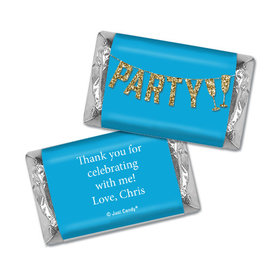 Personalized Let's Party Birthday Hershey's Miniatures