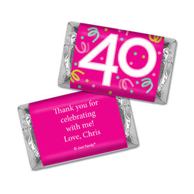 Personalized Forty Confetti Birthday Hershey's Miniatures