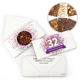 Personalized Birthday Confetti Burst Gourmet Infused Belgian Chocolate Bars (3.5oz)