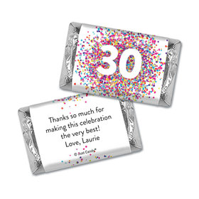 Personalized Confetti Burst Birthday Hershey's Miniatures