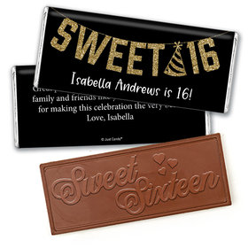 Personalized Birthday Sweet 16 Glitter Party Chocolate Bar & Wrapper