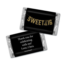Personalized Birthday Hershey's Miniatures Sweet 16 Glitter Party