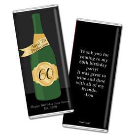 Personalized Milestone Birthday Aged To Perfection Chocolate Bar & Wrapper