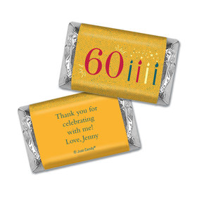 Personalized Hershey's Miniatures Vintage 60th Birthday