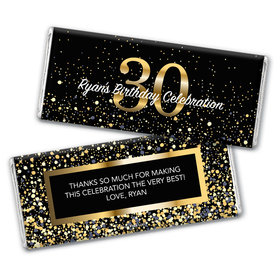 Personalized Milestone Elegant Birthday Bash 30 Chocolate Bar & Wrapper