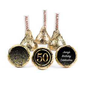 Personalized Elegant 50th Birthday Bash Hershey's Kisses (50 pack)