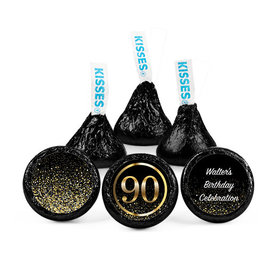 Personalized Elegant 90th Birthday Bash Hershey's Kisses (50 pack)