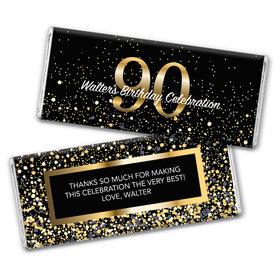 Personalized Milestone Elegant Birthday Bash 90 Chocolate Bar & Wrapper