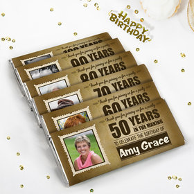 Personalized Milestone Birthday Wanted Chocolate Bar & Wrapper