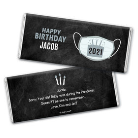 Personalized Birthday Colors Chocolate Bar & Wrapper