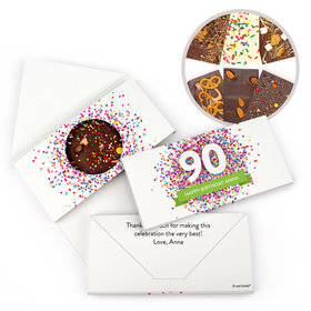 Personalized Birthday Adult Birthday Confetti Burst Gourmet Infused Belgian Chocolate Bars (3.5oz)