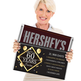 60th Birthday Gifts Personalized 5lb Hershey's Chocolate Bar (5lb Bar)