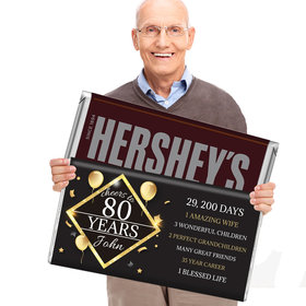 80th Birthday Gifts Personalized 5lb Hershey's Chocolate Bar (5lb Bar)