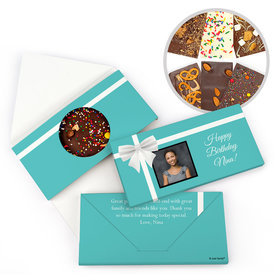 Personalized Birthday Photo & Bow Gourmet Infused Belgian Chocolate Bars (3.5oz)