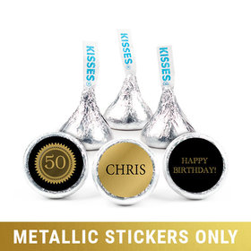 """Personalized Metallic Birthday Seal 3/4"""" Stickers (108 Stickers)"""