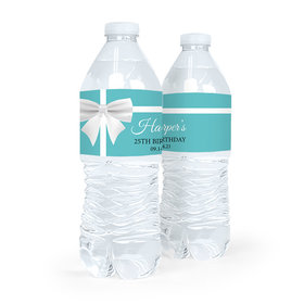 Personalized Birthday Tiffany Style Water Bottle Sticker Labels (5 Labels)