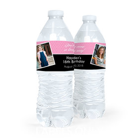 Personalized Sweet 16 Birthday You've Come a Long Way Water Bottle Sticker Labels (5 Labels)