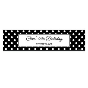 Personalized Birthday Polka Dot Pattern 5 Ft. Banner