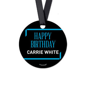 Personalized Round Let's Celebrate Birthday Favor Gift Tags (20 Pack)