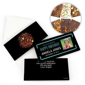 Personalized Birthday Celebrate Photo Gourmet Infused Belgian Chocolate Bars (3.5oz)