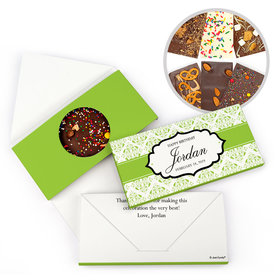 Personalized Birthday Baroque Pattern Gourmet Infused Belgian Chocolate Bars (3.5oz)