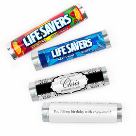 Personalized Birthday Baroque Pattern Lifesavers Rolls (20 Rolls)