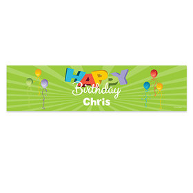 Personalized Birthday Balloons 5 Ft. Banner