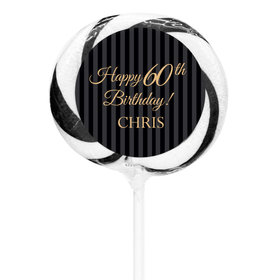 "Milestones Personalized 3"" Whirly Pop 60th Birthday Favors (24 Pack)"