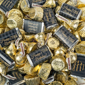 Milestone 70th Birthday Hershey's Miniatures, Kisses and Reese's Peanut Butter Cups