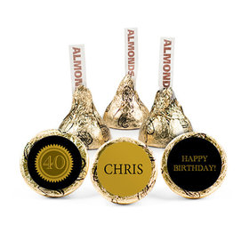 Personalized Milestone 40th Birthday Seal Hershey's Kisses (50 pack)