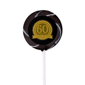 Milestones Personalized Small Swirly Pop 60th Birthday Favors (24 Pack)