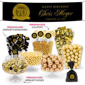 Personalized Milestone 70th Birthday Seal Deluxe Candy Buffet