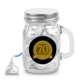 Milestones Personalized Mini Mason Jar 70th Birthday Favors (12 Pack)