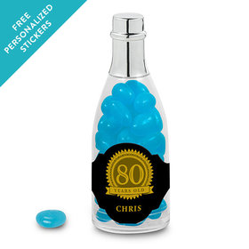 Milestones Personalized Champagne Bottle 80th Birthday Favors (25 Pack)