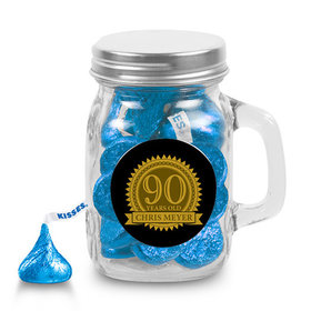 Milestones Personalized Mini Mason Jar 90th Birthday Favors (12 Pack)